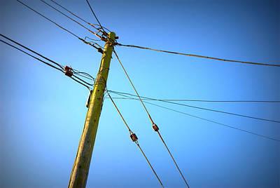 Telephone Poles Photograph - Telephone Pole by Chevy Fleet