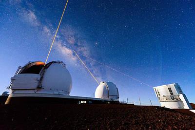 Keck Photograph - Telescope Laser Battle by Jason Chu