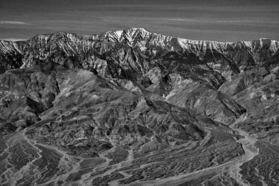 Photograph - Telescope Peak - Black And White by Stuart Litoff
