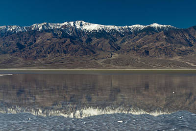 Photograph - Telescope Peak Reflection In Bad Water Death Valley by Greg Kluempers