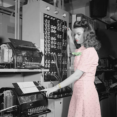 Photograph - Teletype Girl by Andrew Fare