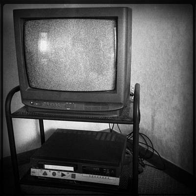 Electronic Photograph - Television And Recorder by Les Cunliffe