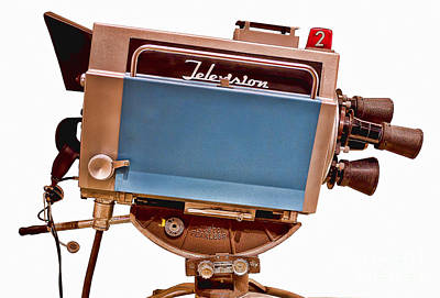 Classic Studio Photograph - Television Studio Camera Hdr by Edward Fielding