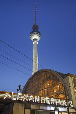 Television Tower And Alexanderplatz Sign Berlin Art Print