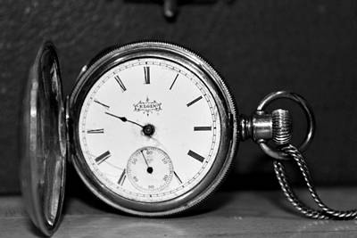 Photograph - Telling Time In Black And White by CJ Rhilinger