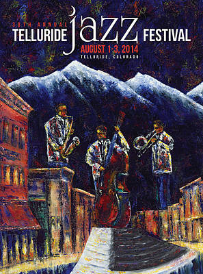 Painting - Telluride Jazz Festival by Jennifer Godshalk