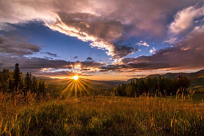 Fall Photograph - Telluride Mountain Sunset by Michael J Bauer