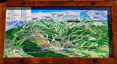 Telluride Ski Map Detail  Art Print