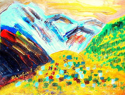 Lodging Painting - Telluride Summer 1 by Richard W Linford