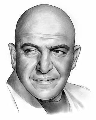 Celebrity Drawing - Telly Savalas by Greg Joens