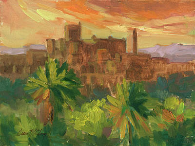 Construction Painting - Telouet Kasbah by Diane McClary