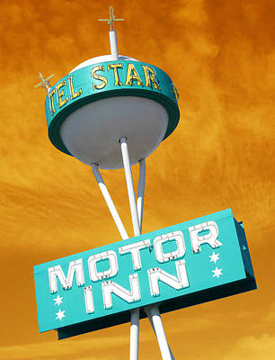 Photograph - Telstar Motor Inn - Orange by Larry Hunter
