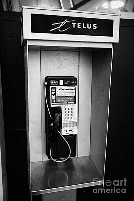Telus Photograph - telus public payphone Vancouver BC Canada by Joe Fox