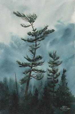 Windblown Painting - Temagami Wind by Karen Richardson