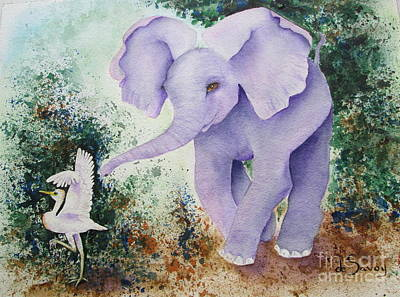 Painting - Tembo Tag by Diane DeSavoy