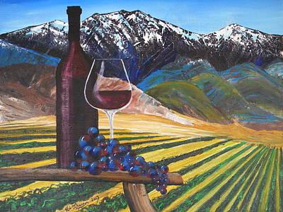 California Vineyard Painting - Temecula Wine Country by Eric Johansen