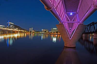 Photograph - Tempe Light Rail Bridge by Tam Ryan