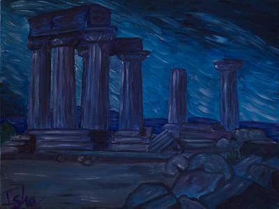 Ancient Civilization Painting - tempio di Apollo by Isha-Elisa Mariottini