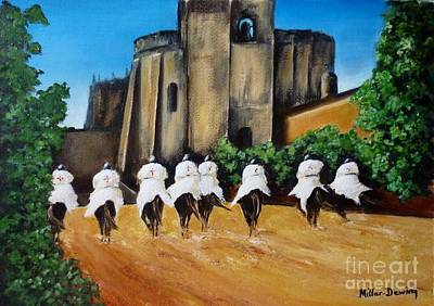 Templar Knights And The Convent Of Christ Art Print