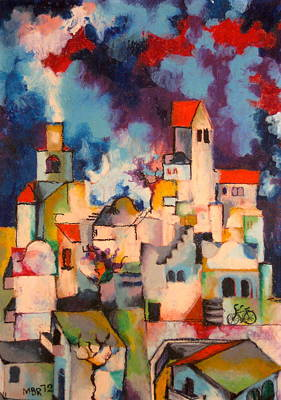 Templars' Colony Jerusalem Art Print by Moshe BenReuven
