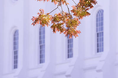 Of Autumn Photograph - Temple Accent by Chad Dutson