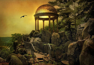 Temple Digital Art - Temple At Dusk by Jessica Jenney