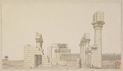 Mural Photograph - Temple At Esneh In Egypt by British Library