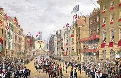 Royal Wedding Drawing - Temple Bar, 7th March, 1863, From A by English School