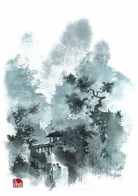 Temple Bridge Art Print