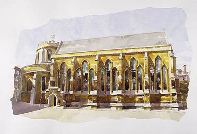 Architectural Painting - Temple Church by Annabel Wilson