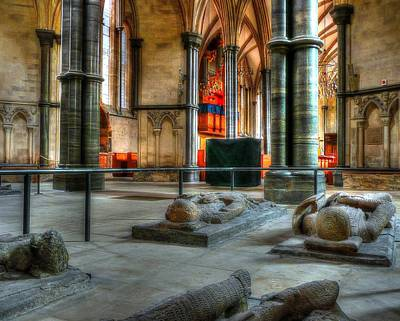 Photograph - Temple Church Tombs by Jenny Setchell