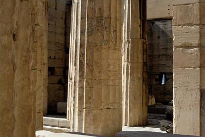Temple Columns With Window Peek Print by Lorraine Devon Wilke