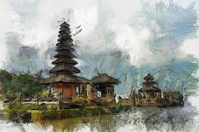 Temple Art Print by Georgi Dimitrov
