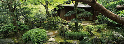 Built Structure Photograph - Temple In A Garden, Yuzen-en Garden by Panoramic Images