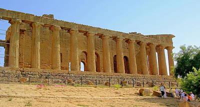 Photograph - Temple In Agrigento2 by Caroline Stella