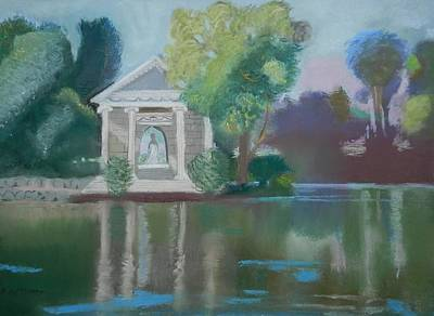 Borghese Painting - Temple In Borghese Garden Rome by Kathleen Bonadonna