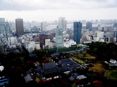 Tokyo Skyline Photograph - Temple In The City by Nelly Bacskay