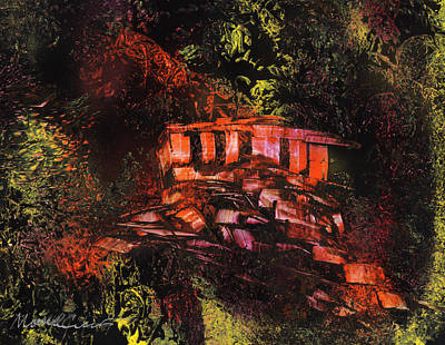 Painting - Temple In The Woods by Mike Cicirelli