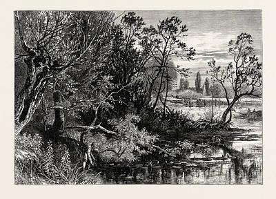Temple Lock, Marlow, Uk, Great Britain, United Kingdom Art Print by English School