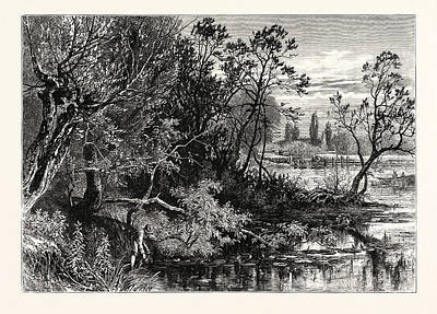 Temple Lock, Near Marlow, Uk, Britain, British Print by English School