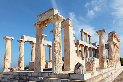Photograph - Temple Of Aphaia Columns by Paul Cowan