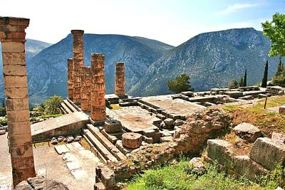 Photograph - Temple Of Appolo In Delphi Greece by Gordon Elwell