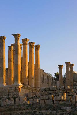 Artemis Photograph - Temple Of Artemis, Ancient Jerash by Keren Su
