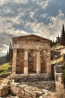 Photograph - Temple Of Athena At Delphi by Deborah Smolinske