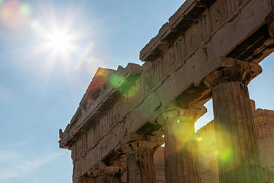 Nike Photograph - Temple Of Athena  Athens, Greece by Reynold Mainse