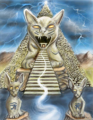 Bastet Digital Art - Temple Of Bastet Two Of Three by Michael Cook