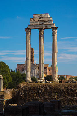 Temple Of Castor And Pollux Photograph - Temple Of Castor And Pollux by Allan Morrison