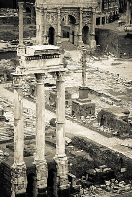 Temple Of Castor And Pollux Photograph - Temple Of Castor And Pollux by David Waldo