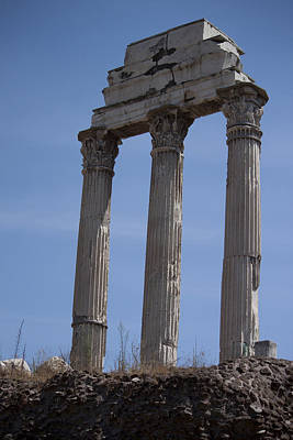 Temple Of Castor And Pollux Photograph - Temple Of Castor And Pollux by Ivete Basso Photography