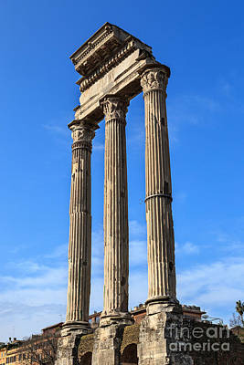 Temple Of Castor And Pollux Photograph - Temple Of Castor And Pollux by Jannis Werner
